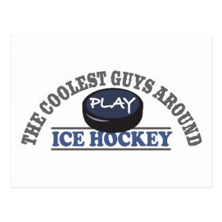 El hockey sobre hielo más fresco del juego de los postal
