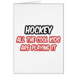 El hockey… todos los niños frescos lo está jugando tarjetas