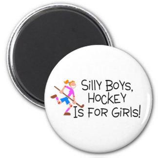 El hockey tonto de los muchachos está para los chi imán de frigorífico