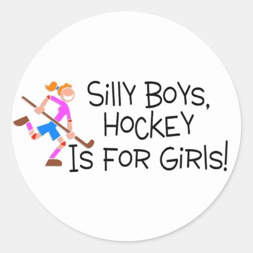 El hockey tonto de los muchachos está para los etiquetas redondas