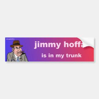 el hoffa de la barreta está en mi tronco pegatina para auto