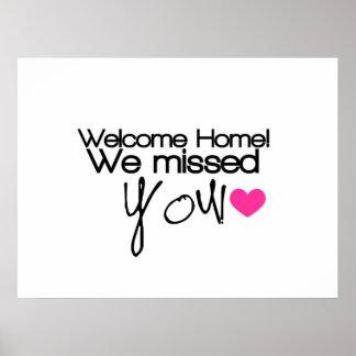 ¡El hogar agradable, le faltamos! Póster