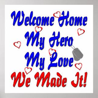 El hogar agradable mi héroe mi amor lo hicimos póster