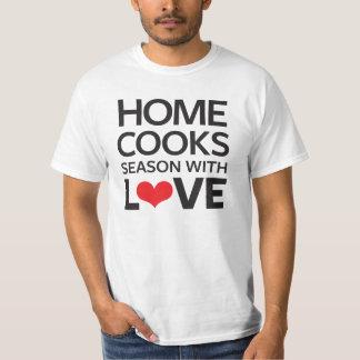 El hogar cocina la estación con amor poleras