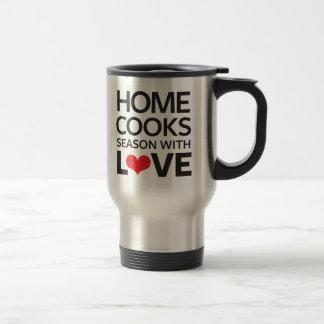El hogar cocina la estación con amor taza de viaje