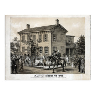 El hogar de Abraham Lincoln Tarjeta Postal