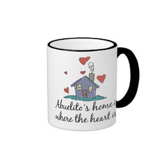 El hogar de Abuelito es donde está el corazón Tazas