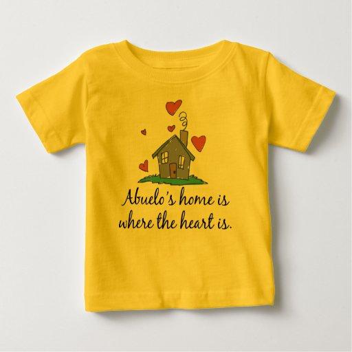El hogar de Abuelo es donde está el corazón Camisas
