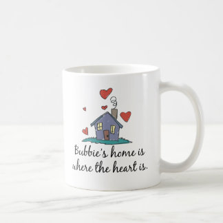 El hogar de Bubbie es donde está el corazón Taza Clásica