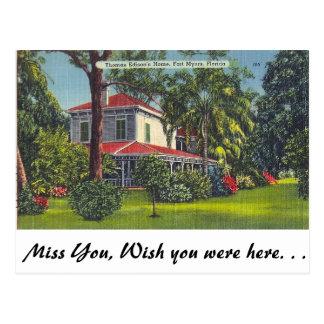 El hogar de Edison, fuerte Myers, la Florida Tarjetas Postales