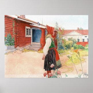 El hogar de Falun en Suecia de Carl Larsson Póster