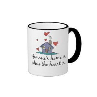 El hogar de Gammie es donde está el corazón Taza De Café
