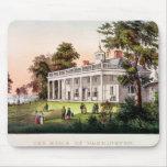 El hogar de George Washington Alfombrilla De Ratones