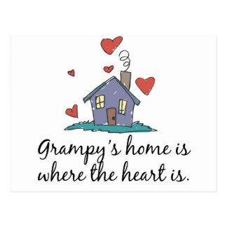 El hogar de Grampy es donde está el corazón Postal
