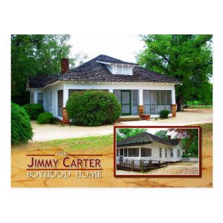 El hogar de la adolescencia de Jimmy Carter, llano Tarjetas Postales