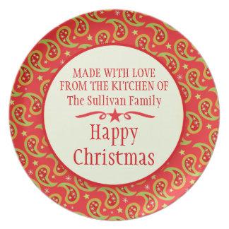 El hogar de la fiesta de Navidad hizo la placa de  Plato De Comida
