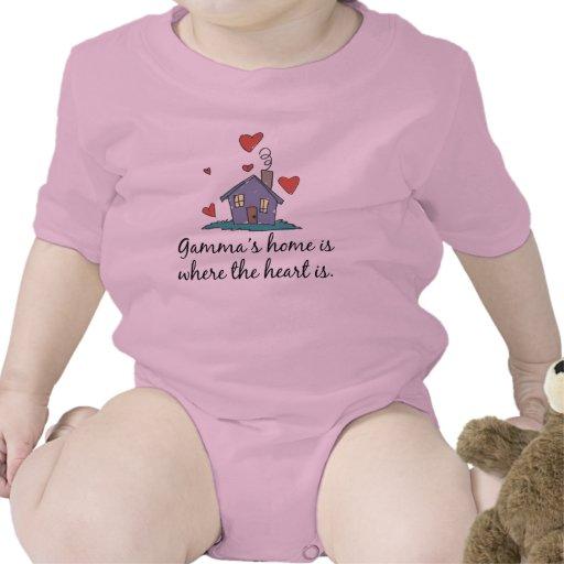 El hogar de la gamma es donde está el corazón trajes de bebé