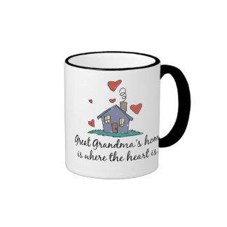 El hogar de la gran abuela es donde está el corazó taza