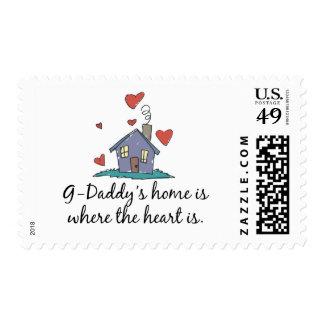 El hogar de los G-Papás es donde está el corazón Sellos