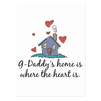 El hogar de los G-Papás es donde está el corazón Tarjetas Postales