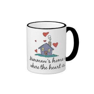 El hogar de Mammaw es donde está el corazón Taza A Dos Colores