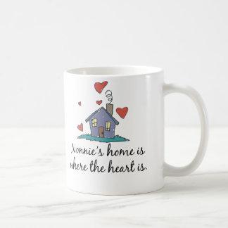 El hogar de Nonnie es donde está el corazón Taza