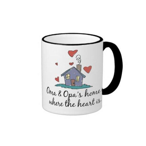 El hogar de Oma y de Opa es donde está el corazón Taza De Café