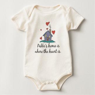 El hogar de Pakke es donde está el corazón Body Para Bebé
