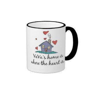 El hogar de VaVa es donde está el corazón Taza A Dos Colores