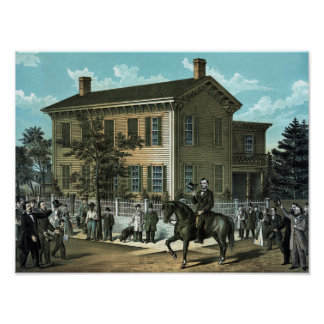 El hogar de vuelta de Abraham Lincoln Póster