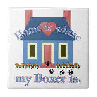 El hogar del boxeador es azulejo cuadrado pequeño