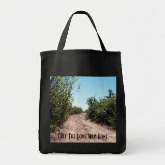 El hogar del camino largo bolsa tela para la compra