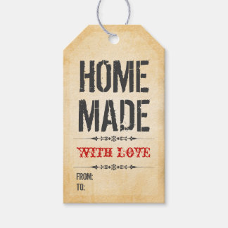 El hogar del estilo del vintage hecho con el etiquetas para regalos