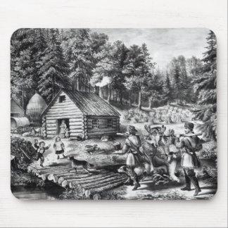 El hogar del pionero en la frontera occidental alfombrilla de ratón