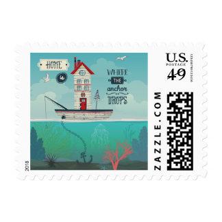 El hogar es adonde el ancla cae sellos postales