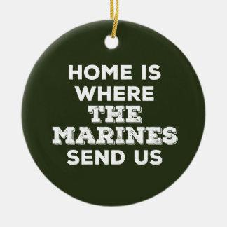 El hogar es adonde los infantes de marina nos ornamento para arbol de navidad