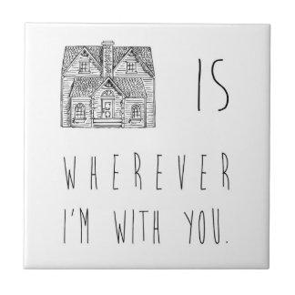 El hogar es azulejo cuadrado pequeño