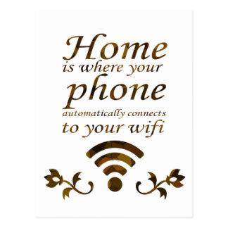 El hogar es con donde su teléfono conecta automáti postal