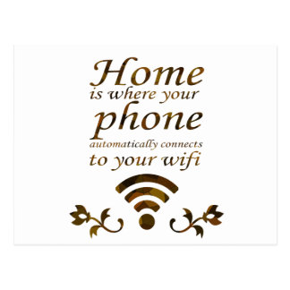 El hogar es con donde su teléfono conecta automáti postales