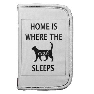 El hogar es donde duerme el gato planificadores