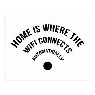 El hogar es donde el Wifi conecta automáticamente Tarjetas Postales