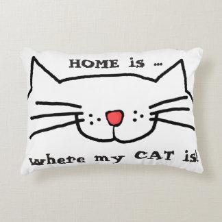 El hogar es donde está almohada mi gato