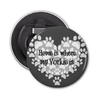 El hogar es donde está cita mi Yorkie Abrebotellas Redondo