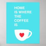 El hogar es donde está el café posters