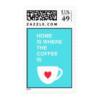 El hogar es donde está el café sello