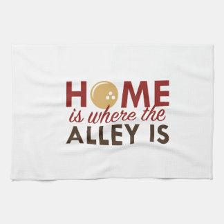 El hogar es donde está el callejón toalla