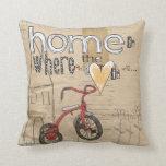 el hogar es donde está el corazón almohada