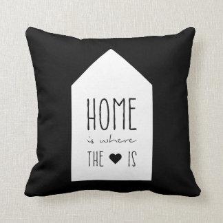 El hogar es donde está el corazón - almohada