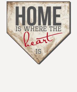 El hogar es donde está el corazón - el béisbol T Playeras