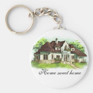 El hogar es donde está el corazón llavero personalizado